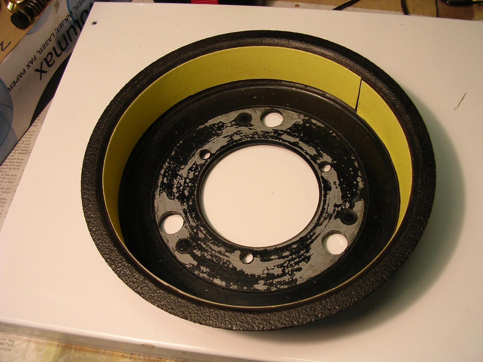 Relining Brake Drums : Bedding in new brake shoes