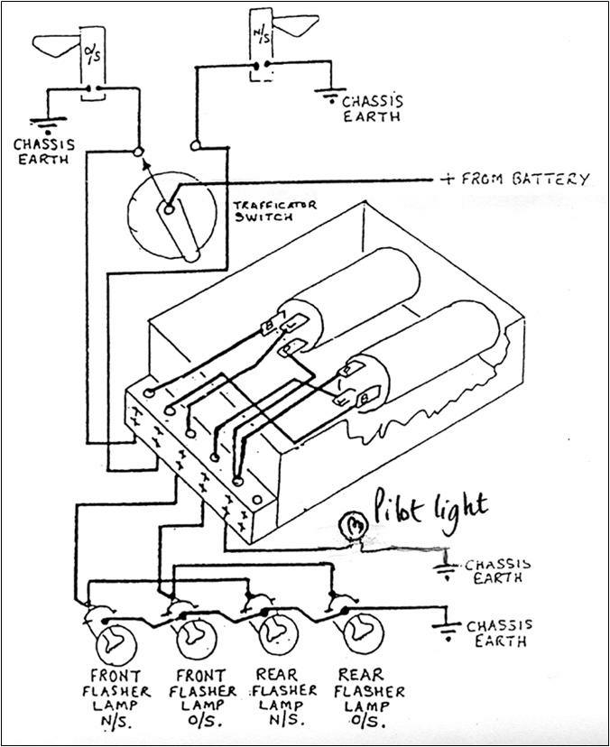 automotive flasher diagram
